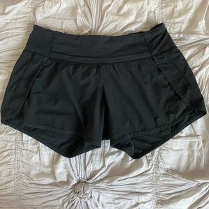 Black Lululemon Speed Up Shorts